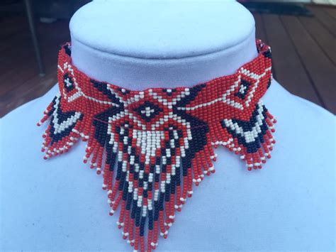 beaded collar necklace american style choker beaded choker necklace seed