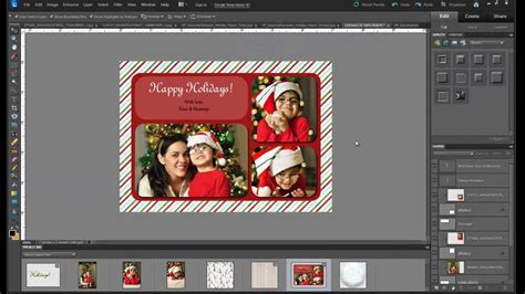 how to make a card in photoshop tutorial how to make a custom photo card with