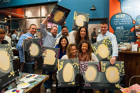 muse paintbar employment wine with friends take home a painting at muse in