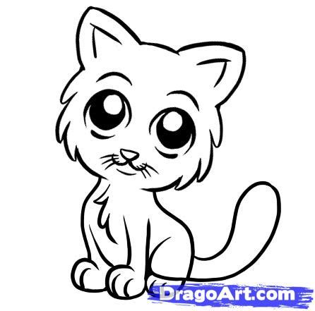 cat simple how to draw a simple cat step by step pets animals