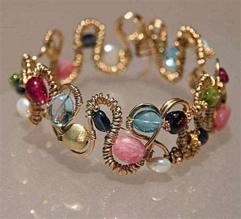 how to make a beaded bracelet with wire craft ideas 11437 pandahall