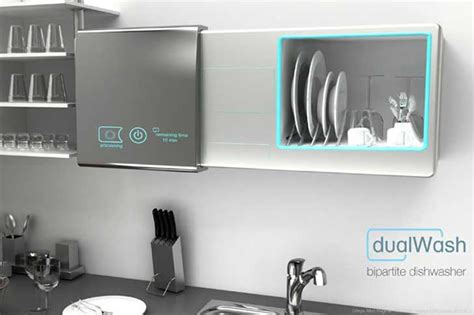 dishwasher kitchen cabinet dualwash waterless dishwasher doubles as a kitchen