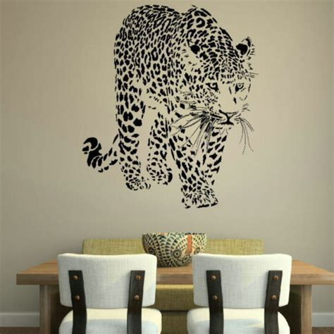 leopard wall stickers leopard wall stickers animal wall decor pvc material