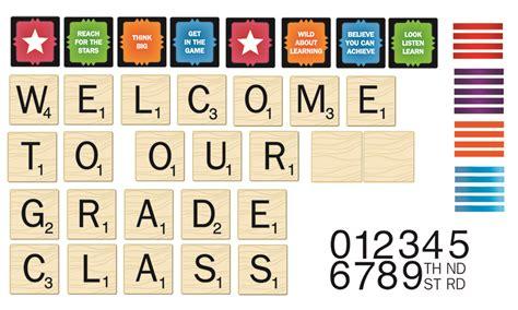 scrabble board letters scrabble welcome to our class mini school bulletin boards