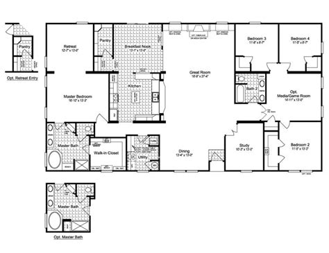 modular floor plan 25 best ideas about manufactured homes floor plans on