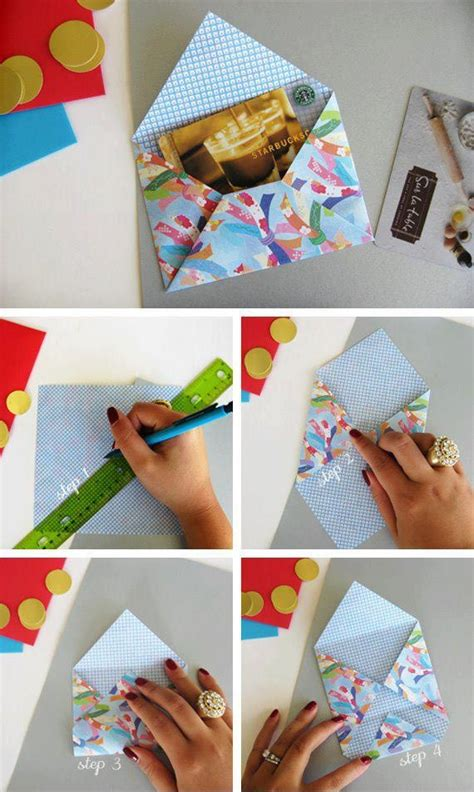 Diy Scrapbook Paper Envelope Diy Crafts