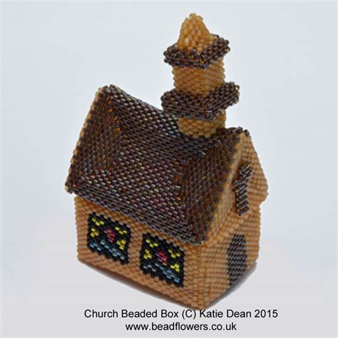 beaded boxes beaded box pattern for a church dean beadflowers