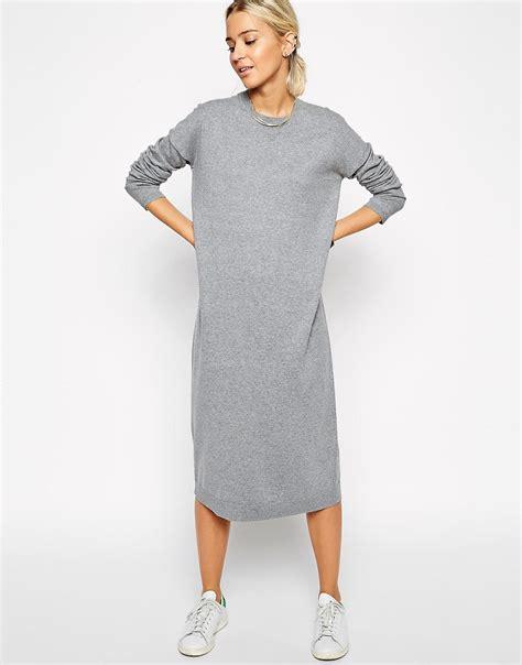 knit midi dress asos white asos white knit midi jumper dress at asos