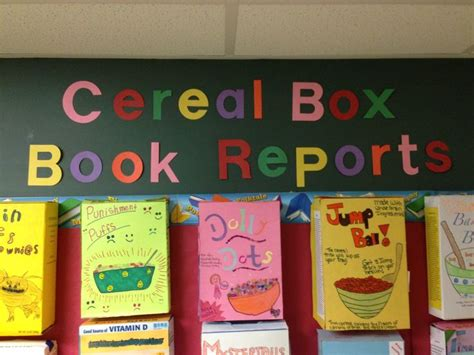 cereal box book report pictures 1000 images about cereal box book report on