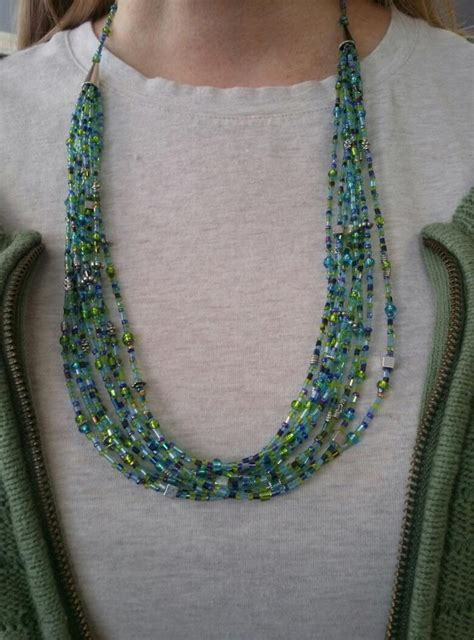 multi strand seed bead necklace seed bead necklace multi strand my beading