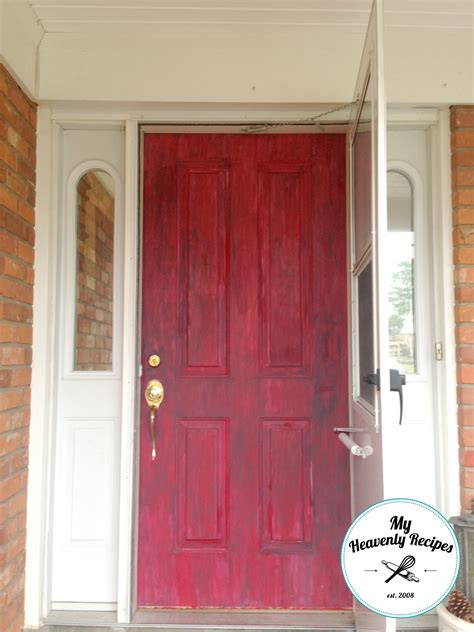 chalk paint the front door painted front door with chalk paint my heavenly recipes