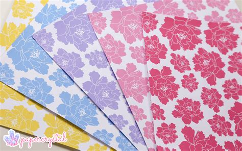 origami paper free origami paper peony pattern paper kawaii