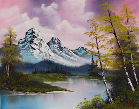 bob ross paintings buy shopping bob ross pastel fall painting on paintings biz