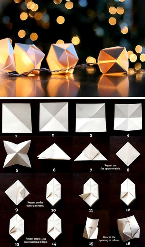 how to make origami lanterns diy wedding tutorial let there be light wedding ideas