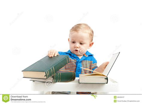 baby pictures book baby with books royalty free stock photography image