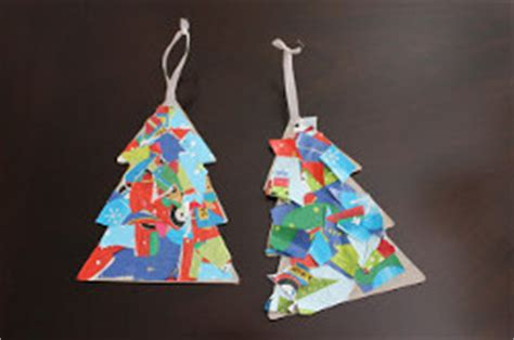 wrapping paper crafts wrapping paper collage ornament allfreekidscrafts
