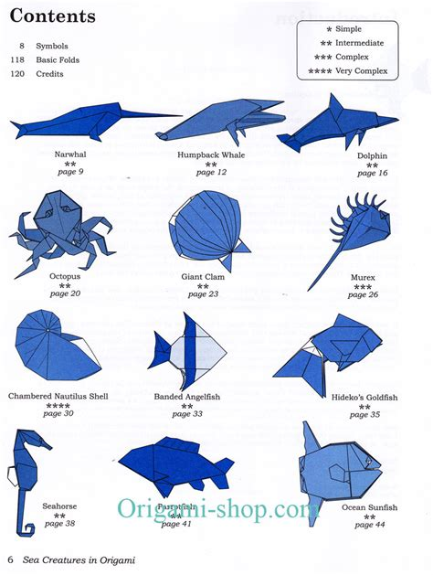 sea origami easy origami animals comot