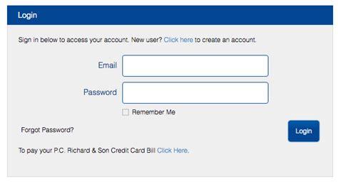 Pc Richard Credit Card Login Make A Payment