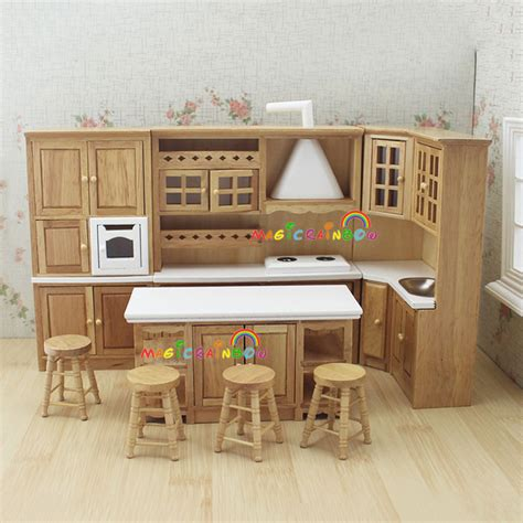 dollhouse furniture kitchen aliexpress buy doll house kitchen furniture wooden