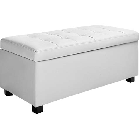 large leather ottoman with storage large storage ottoman bench white pu leather 102cm buy