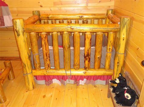 custom baby cribs handmade rustic pine log crib by legacy woodshop