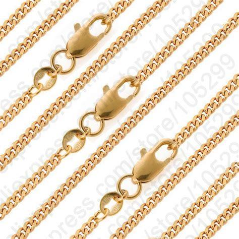 jewelry chain wholesale wholesale 10pcs gf necklace chain 16 30 quot 18k yellow gold