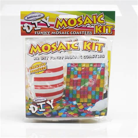craft project kits mandala diy mosaic coaster craft project kit