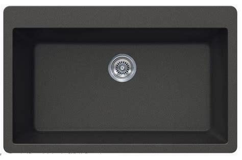quartz kitchen sink black quartz composite single bowl undermount drop in