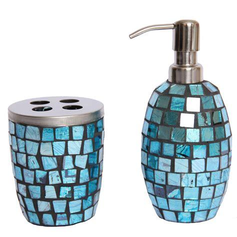 mosaic bathroom accessories mosaic bathroom accessories sets aqua sparkle mosaic