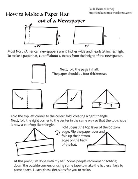 how to make out of paper how to make a paper hat playful bookbinding and paper works