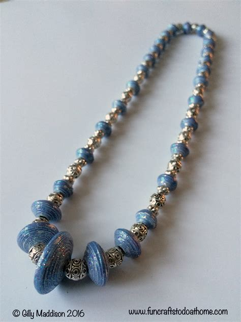 paper bead necklace may 2016 crafts to do at home