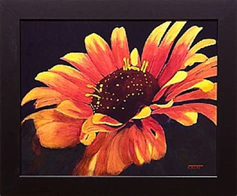 painting tutorial how to paint a flower with acrylics step by step