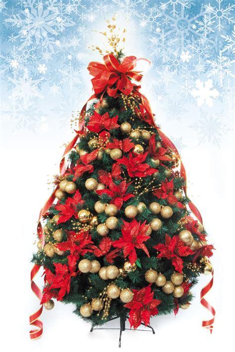 precios de arbol de navidad 193 rbol de navidad decorado artificial 2 50mts rojo oro