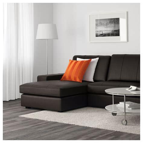 kivik two seat sofa and chaise longue grann bomstad brown ikea