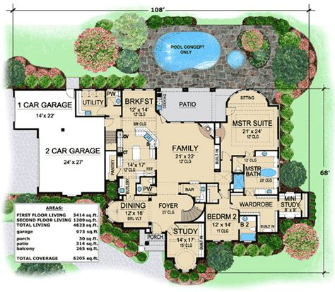 villa plan luxury villa house plans house design ideas