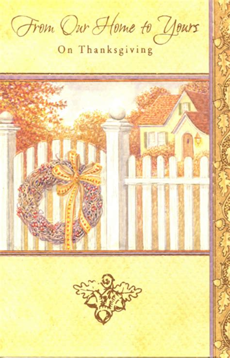 thanksgiving cards to make at home wreath on fence 1 card 1 envelope thanksgiving card from
