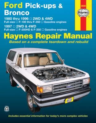 service repair manual free download 1989 ford bronco seat position control 1980 1996 ford f100 f350 bronco 1997 f250hd f350 gas haynes manual