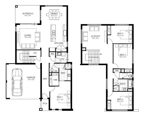 two storey house design and floor plan storey 4 bedroom house designs perth apg