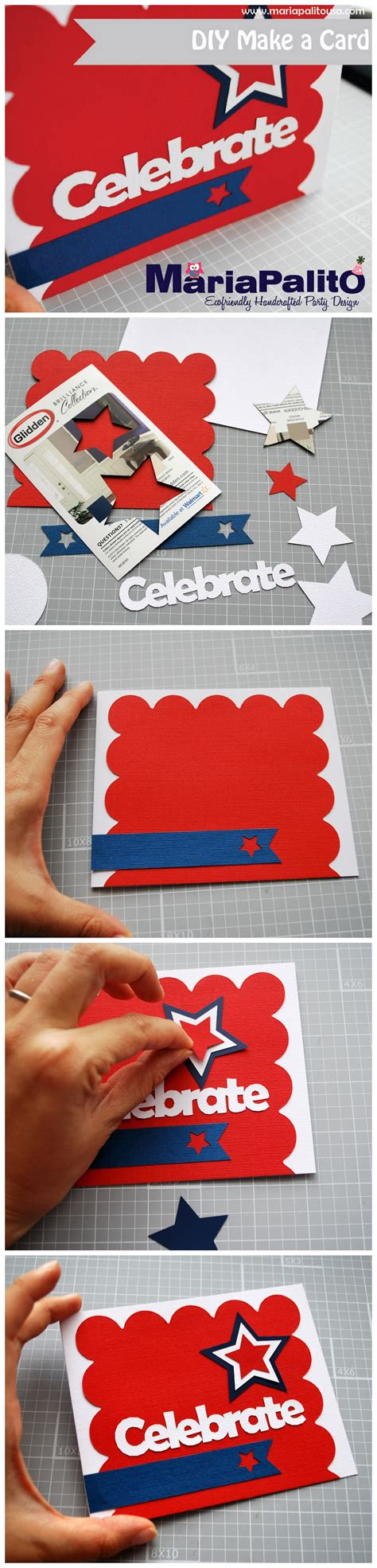 4th of july cards to make diy 4th of july card the inspiration by