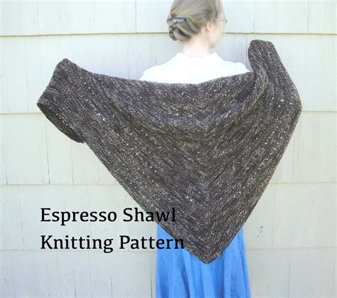 easy shawls to knit free patterns espresso shawl pdf knitting pattern easy knit worsted
