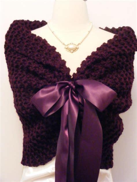 knit shawls purple shawl wedding wrap knit shawl bridal cape purple