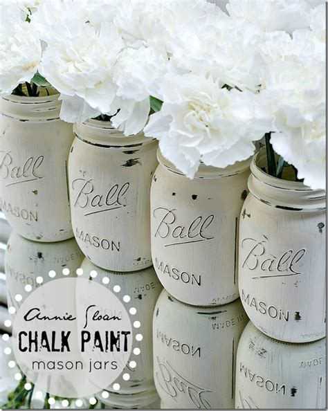 chalk paint jars diy diy how to create distressed shabby chalk painted