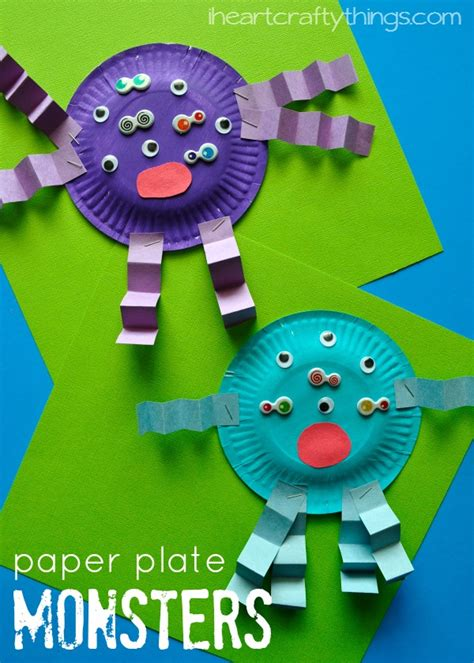 toddler paper plate crafts paper plate craft crafts monsters