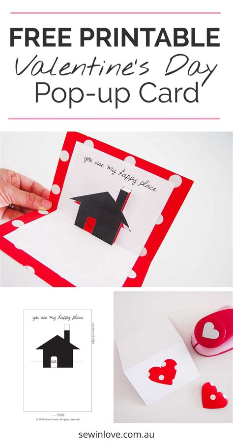 make a card free printable free valentines day printable card pop up sew in