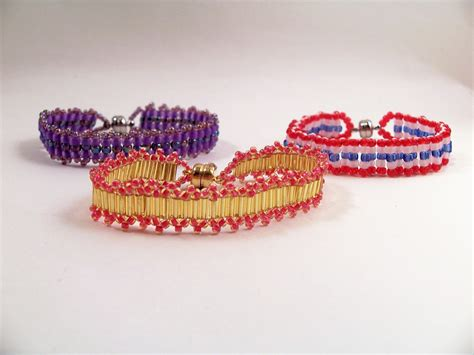 ladder stitch beading patterns ladder stitch bracelet patterns beading tutorial in pdf