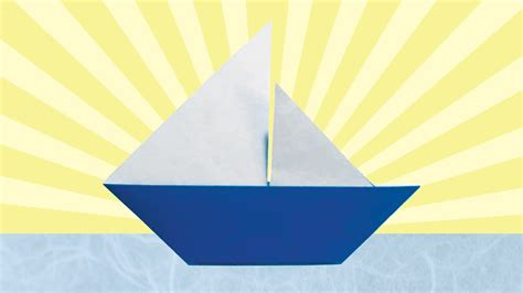 origami sail boat origami sailboat folding