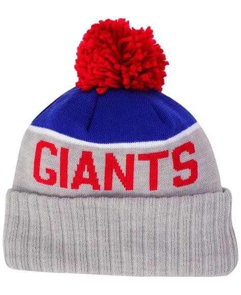 ny giants knit hat ktz new york giants bowl sport knit hat in blue for