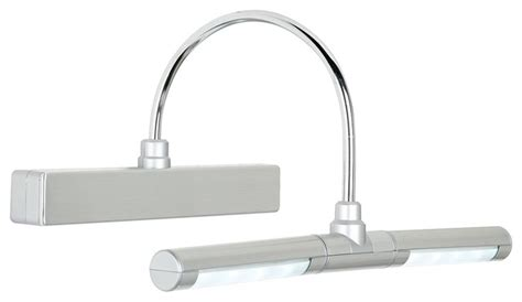 battery powered bathroom lights eight led battery powered 13 quot wide dimmable picture light