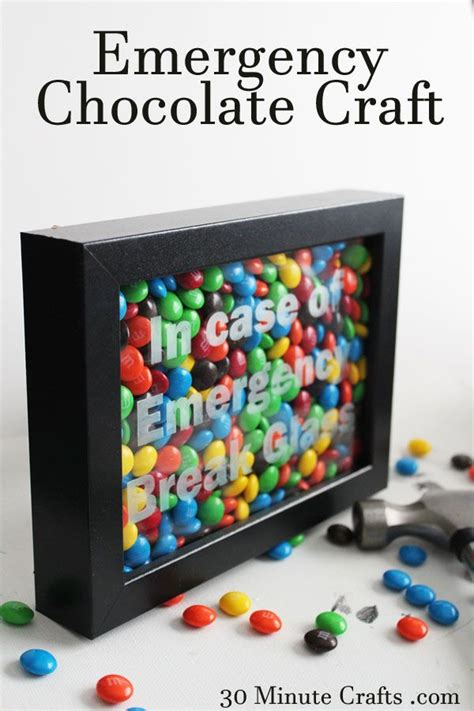 30 minute craft projects emergency chocolate craft on 30 minute crafts gift ideas