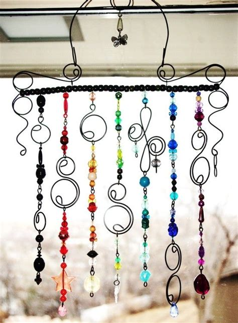 diy beaded wind chimes diy wind chime the use of swirly metal don t